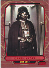 STAR WARS GALACTIC FILES SERIES 1 RED PARALLEL INSERT #99 DARTH VADER 32/35 RARE
