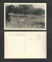 1940s REAR LAWN AND GARDEN BRANDON INN VERMONT RPPC REAL PICTURE POSTCARD