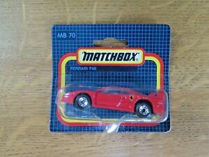 Matchbox International LTD MB-70 Ferrari F40 [Original Blue Card Pack] 1990