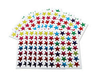 700 Reward Stickers Stars Coloured Merit Teacher School Wall Sticker 15mm Class