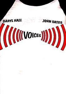 HALL & OATES 1980 VOICES TOUR JERSEY-STYLE VINTAGE UNWORN CONCERT TEE T-SHIRT
