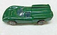 HOT WHEELS VINTAGE ORIGINAL REDLINE 1968 LOLA GT70 IN BRITISH RACING GREEN NICE