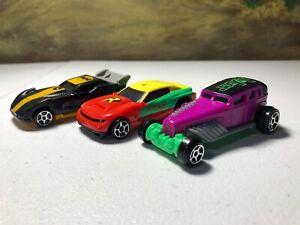 McDonalds 2016 Hot Wheels DC Comics Batman Robin Joker plastic cars lot of 3