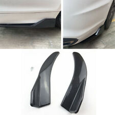 2x 17.3'' Car Rear Bumper Spoiler Protector Universal Body Kit Carbon Fiber Look