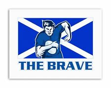SCOTLAND RUGBY FOOTBALL FLAG BRAVE Poster Painting Sport Canvas art Prints