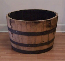 Half White Oak Whiskey Barrel Planter-The Real Deal-Smells like Bourbon