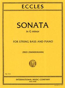 Henry Eccles Sonate g-Moll Kontrabass Piano
