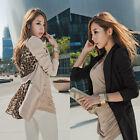 Hot! New Fashion Women's Korea Leopard Chiffon Slim Suit Blazer Coat Jacket