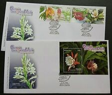 2008 Malaysia Unique Flowers 4v Stamps & Mini-Sheet on 2 FDC (Kuala Lumpur)