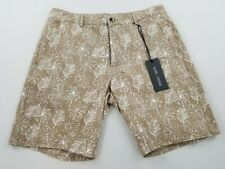 new Slate & Stone men shorts Ross Novelty 30 brown white leaves MSRP $148