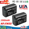 2X 1500mAh NP-FW50 NPFW50 Battery for Sony Alpha A6300 A6000 A5000 A3000 Camera