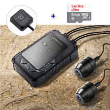 DV688 Motorcycle Dash Cam DVR Camera Dual Lens 1080P With GPS Module&64GB Card