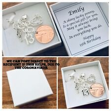 LUCKY PENNY charm, 13th BIRTHDAY, 2007 birth year coin, PERSONALISED gift box