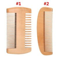 Wooden Beard Comb Anti Static Wood Pocket Comb with Fine Coarse Teeth For Beard