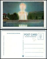 INDIANA Postcard - Fort Wayne, Reservoir Park, Electric Fountain Q27