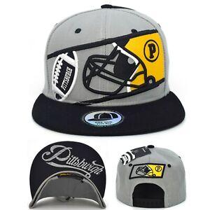 Pittsburgh New Leader Blade Football P Helmet Grey Adjustable Era SnapBack Hat