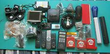 Mixed Lot of Electronics Polycom Wall Adapter, Remote Controls ,Gps, Etc. Aa