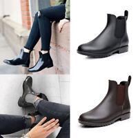 Women's Ankle Rain Boots Chelsea Booties Waterproof Slip On Short Rain Booties