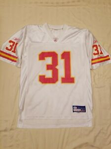 NFL Chiefs Priest Holmes White Red Yellow Short Sleeve Jersey Mens/Womens L