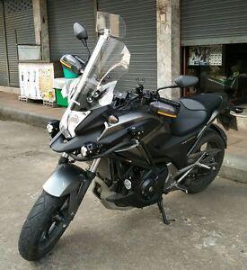 Honda NC700X NC750X 2012-2015 Clear & Light Smoke Touring Windshield Windscreen