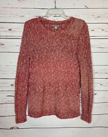 Lucky Brand Women's Size S Small Pink Chunky Knit Cute Cozy Spring Sweater Top
