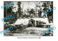 OLD LARGE PHOTO FEATURING WYNYARD TASMANIA VIEW OF OLD BUTTER FACTORY c1880