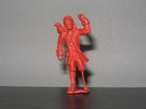 MPC Pirate - Long John Silver w/Peg Leg and Parrot - Ringhand - Red Plastic