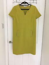 Boden Womens Green Cotton Shift Dress Summer Smart UK18R
