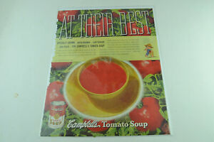 Campbell's Tomato Soup At Their Best Full Page Print Ad 465