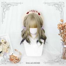 Hair Hairpiece Cosplay Wig Harajuku Gradient Japanese Lolita Girls Short Curly