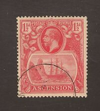 Ascension #12 (SG #12d) VF USED - 1924 1 1/2d Seal Of Colony - Broken Scroll