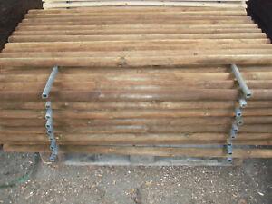 Zaunlatte halbrund  kesseldruckimprägniert 6cm x 150cm