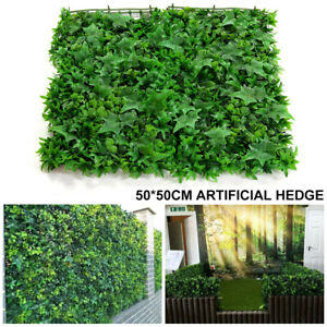 Artificial Faux Green Leaf Hedge Privacy Screening Garden Wall/Fence Cove