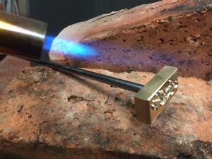 Branding Iron Wood Leather Stamp Torch heated Custom design.