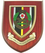 YORK AND LANCASTER REGIMENT CLASSIC HAND MADE  REGIMENTAL MESS PLAQUE