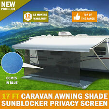 NEW 17 FT Caravan Awning Shade Sun Blocker Privacy Screen Suit All Awnings