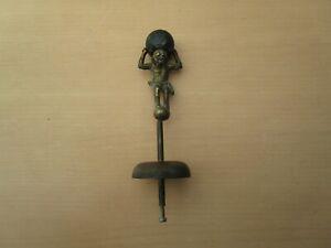 VINTAGE DUTCH WALL CLOCK ATLAS MAN WITH BELL