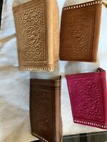 Moroccan Genuine Leather Wallet Hand tooled&stitched Bi-fold /Made In Morocco