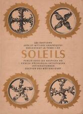 SOLEILS TITLE PAGE. Gold leaf paint. Éditions Arts et Métiers Graphiques 1947