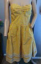 NWOT Girls From Savoy Anthropologie Yellow Bright Bandana Paisley Dress 8