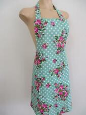 Handmade Prettiest Roses Polka Dot Country 100% Cotton Women's Apron Kitchen
