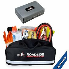 Premium Auto Emergency Kit By Kolo Sports - 125 Pc Multipurpose Pack Great For &