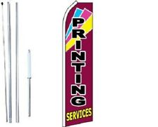 Printing Services Swooper Flag With Complete Hybrid Pole set