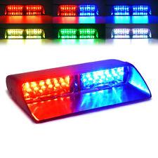 Xprite RGB LED Strobe Light Multi-Color Windshield Deck Mount Emergency Flash