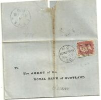 # 1859  FINE LEVEN ARRIVAL SKELETON ON EDINBURGH WRAPPER >ROYAL BANK OF SCOTLAND
