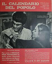 """"""" IL CALENDARIO DEL POPOLO N° 167 / AGO/1958 ANNO XIV° """""""