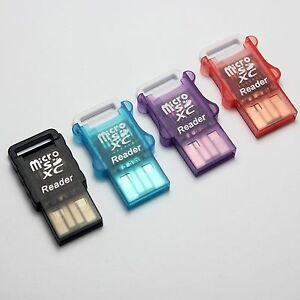 USB 2.0 MicroSD TF Card Reader,TF USB Adapter,Support MicroSDXC up to 512GB