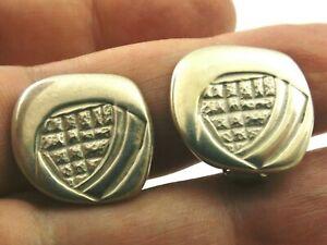 Sterling silver clip on stud earrings by Ola Gorie Rennie Mackintosh design