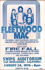 "Fleetwood Mac 1976 14"" X 22"" Vintage Style Concert Poster"