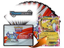 x10 Dampfkessel Pokemon TCGO OnLine Code Karten + 1 Bonus Pikachu EX XY84 Code